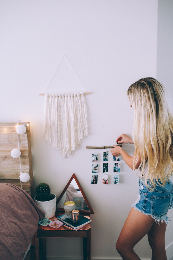 DIY Summer Room Decor inspired by Pinterest! + Room Makeover