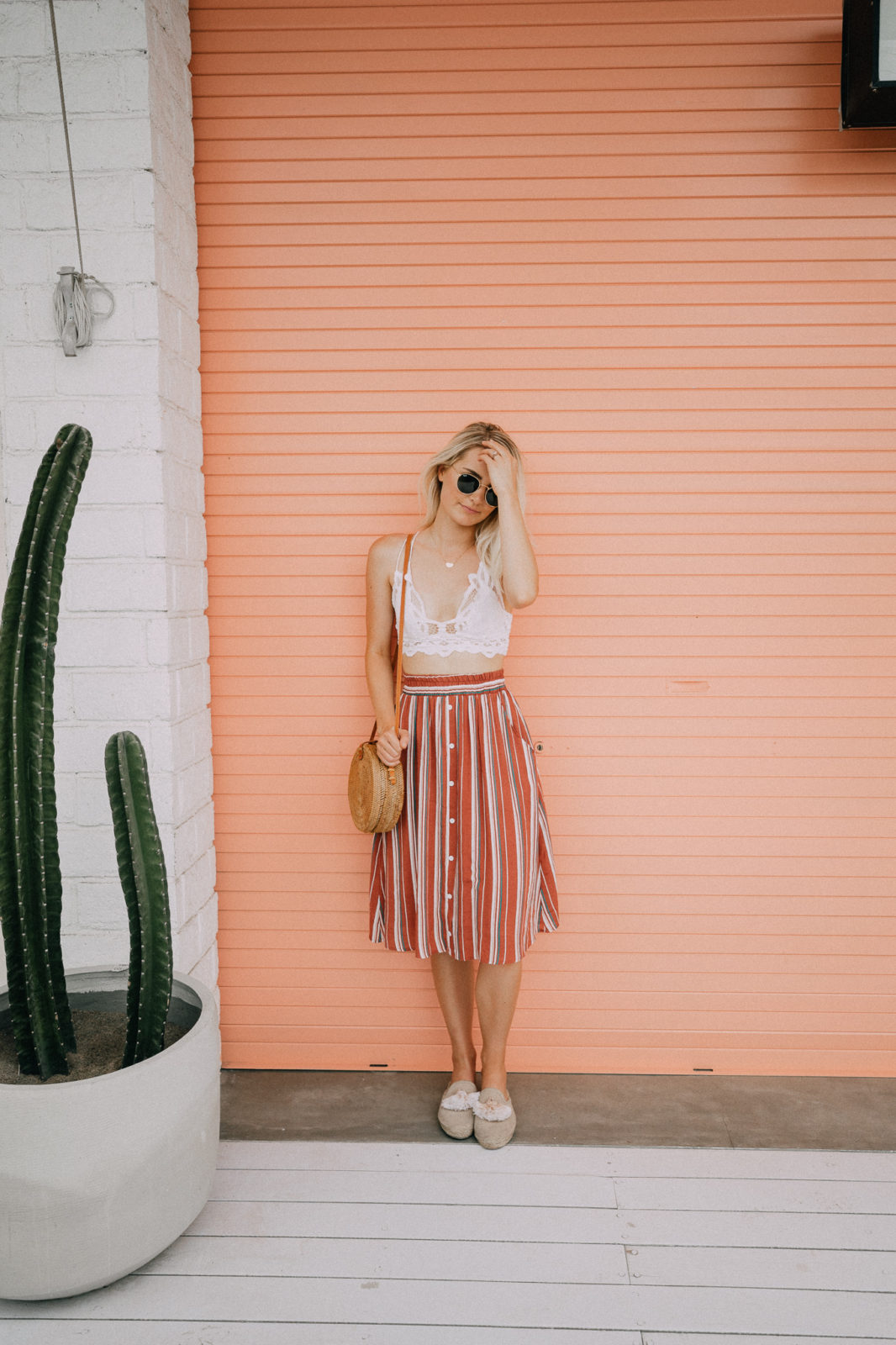Striped Skirt in Bali