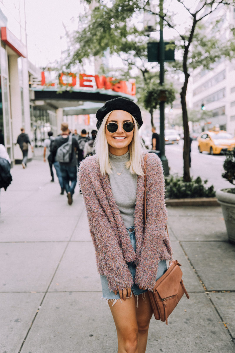 Fuzzy Sweater in NYC